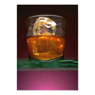 Whisky hermoso en las rocas invitación 12,7 x 17,8 cm