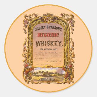 Whisky higiénico: 1860 - Pegatina