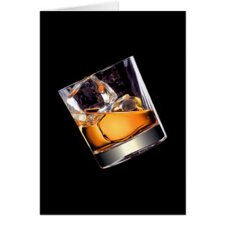 Whisky on the Rocks Greeting Card