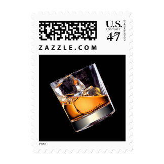 Whisky on the Rocks Postage Stamp