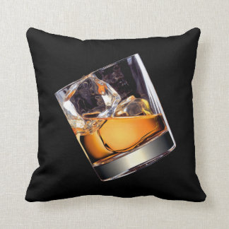Whisky on the Rocks Throw Pillow