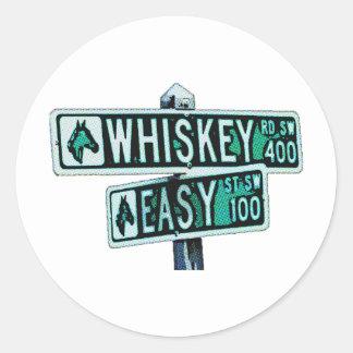 Whisky Rd y St fácil Etiqueta Redonda