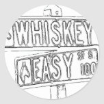 Whisky Rd y St fácil Pegatinas Redondas