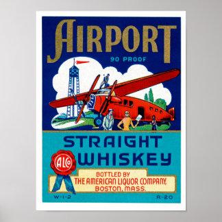 Whisky recto del aeropuerto póster