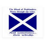 Whisky St Andrew de Scott Tarjetas Postales
