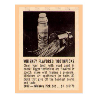 Whisky Toothpicks Postcard