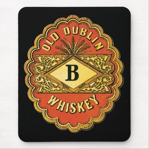 Whisky viejo de Dublín Tapetes De Raton