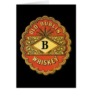 Whisky viejo de Dublín Tarjeta
