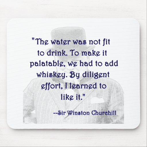 Whisky y Churchill Tapetes De Ratón