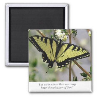 Whisper Butterfly 2 Inch Square Magnet