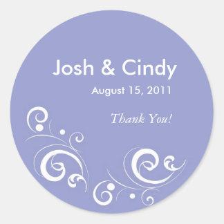 Whisper Light Purple Wedding Stickers