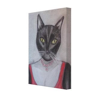 """Whisper"" Portrait of a Glamorous Cat Canvas Print"