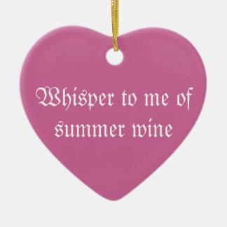Whisper Summer Poem Ornament