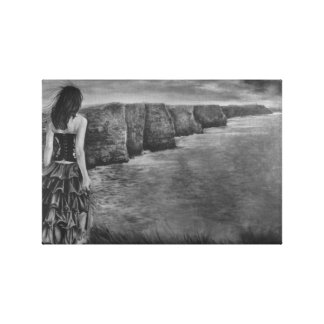 Whisper - The Cliffs of Moher by Gary Rudisill Gallery Wrap Canvas