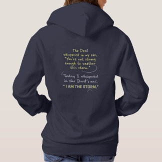 Whispered in the Devil's ear Christian Woman Hoodie