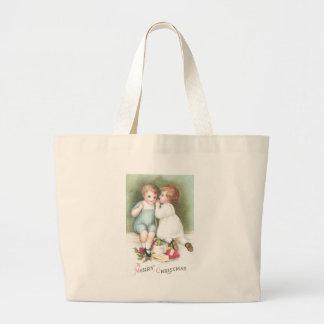 Whispered Secrets Vintage Christmas Large Tote Bag