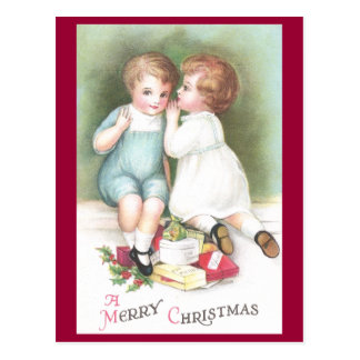 Whispered Secrets Vintage Christmas Postcard