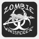 Whisperer 4w del zombi calcomanía cuadrada