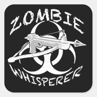 Whisperer 4w del zombi pegatina cuadrada