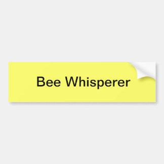 Whisperer de la abeja pegatina para auto