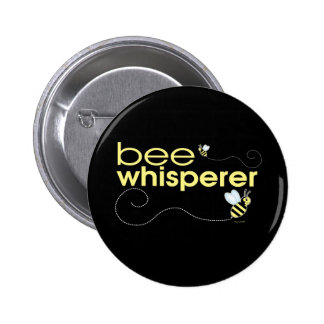 Whisperer de la abeja pin redondo de 2 pulgadas