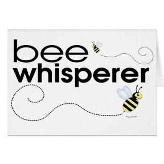 Whisperer de la abeja tarjeta