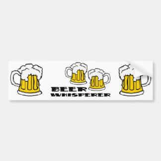 Whisperer de la cerveza etiqueta de parachoque