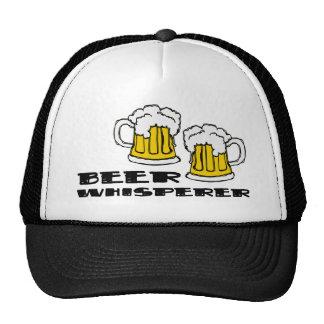 Whisperer de la cerveza gorro de camionero
