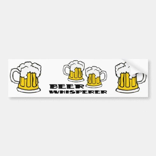 Whisperer de la cerveza pegatina para auto