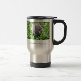 Whisperer de la marmota taza de café