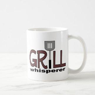 Whisperer de la parrilla taza básica blanca