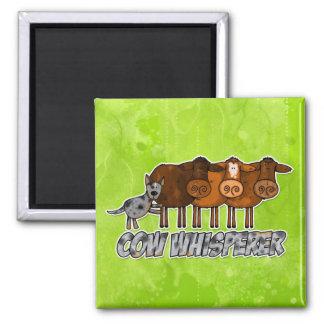 whisperer de la vaca imán cuadrado