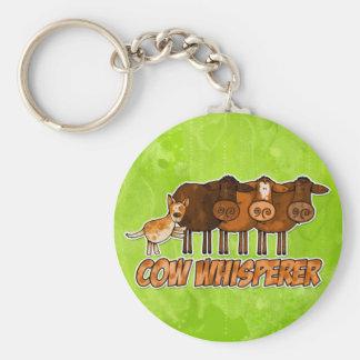 whisperer de la vaca llavero redondo tipo pin