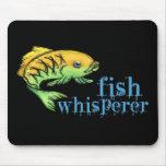 Whisperer de los pescados alfombrilla de ratón
