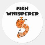Whisperer de los pescados etiquetas redondas