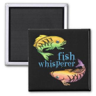 Whisperer de los pescados imán para frigorífico