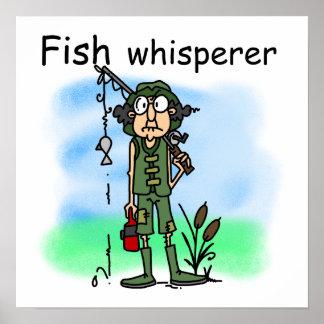 Whisperer de los pescados impresiones