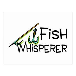 Whisperer de los pescados tarjeta postal