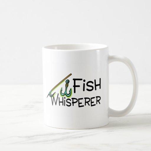 Whisperer de los pescados taza básica blanca