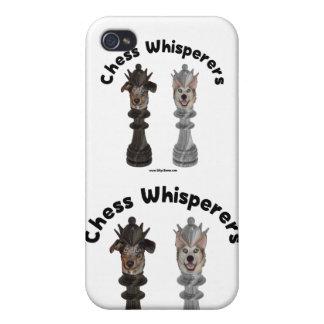 Whisperer del ajedrez del perro iPhone 4/4S fundas
