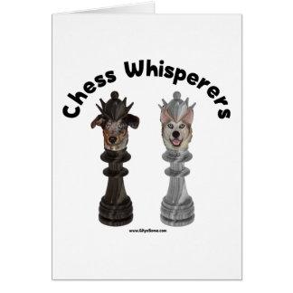 Whisperer del ajedrez del perro tarjeta pequeña