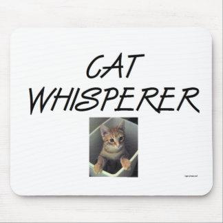 Whisperer del gato con Ollie Tapete De Raton