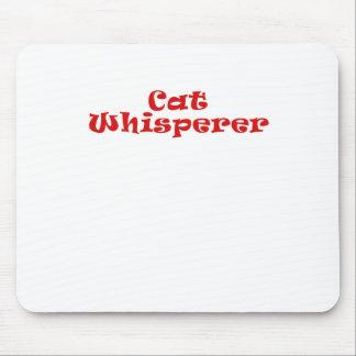 Whisperer del gato mousepads
