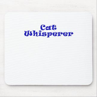 Whisperer del gato alfombrillas de ratón