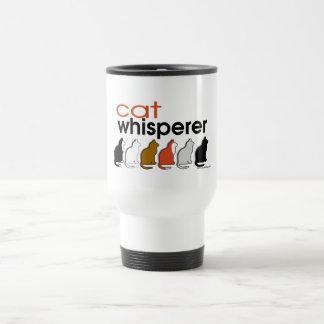 Whisperer del gato taza térmica