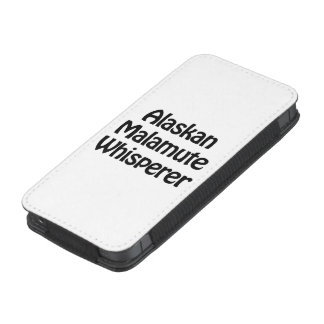 whisperer del malamute de Alaska Funda Acolchada Para iPhone