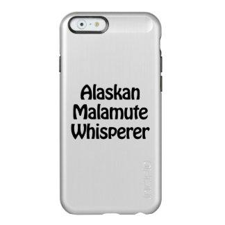 whisperer del malamute de Alaska Funda Para iPhone 6 Plus Incipio Feather Shine