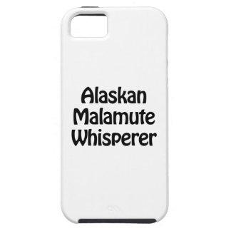 whisperer del malamute de Alaska iPhone 5 Carcasa