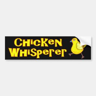 Whisperer del pollo pegatina para auto