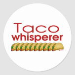 Whisperer del Taco Pegatina Redonda